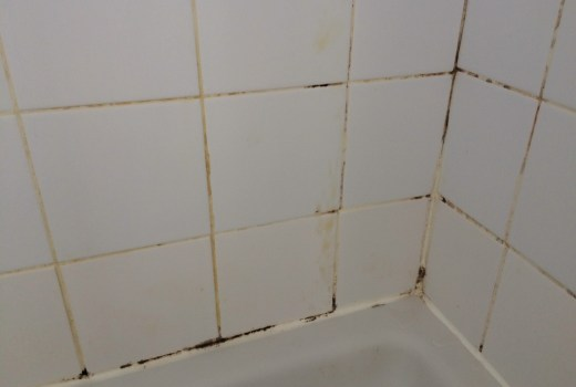 Ceramic Tiled Shower Cubicle Before Cleaning Herstmonceux
