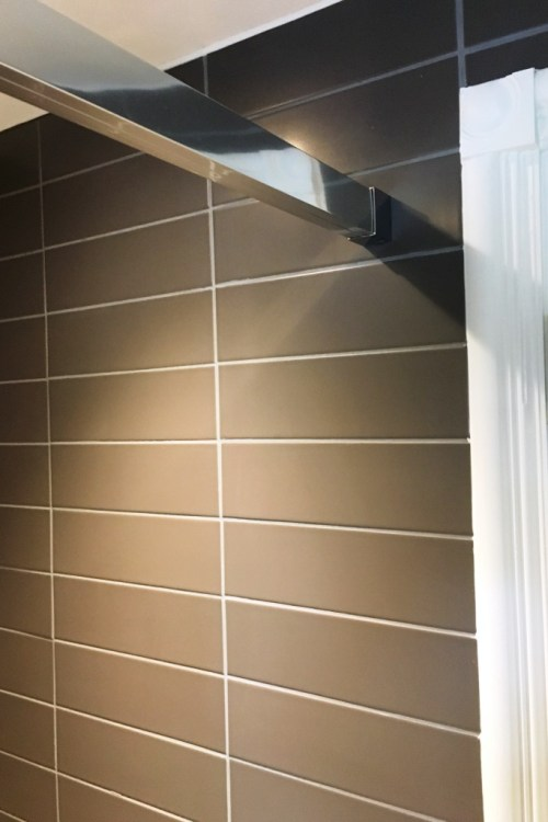 Grout After Changing Colour in Eastbourne Bathroom