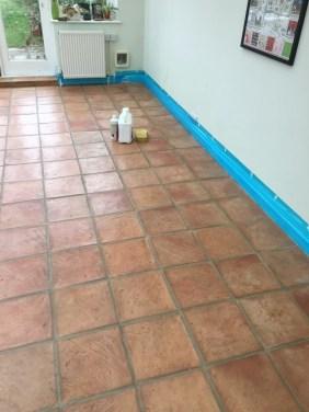 Terracotta Floor Before Cleaning Brighton