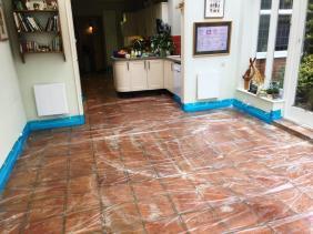 Terracotta Floor During Cleaning Brighton