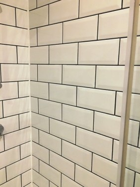 Shower Room Tiles After Grout Colouring in Hove