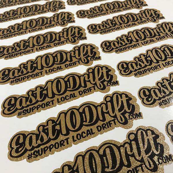 Support Local Drift Decal - Gold