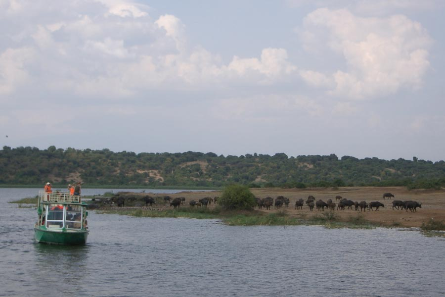 Queen Elizabeth National Park Boat ride on Kazinga Channel