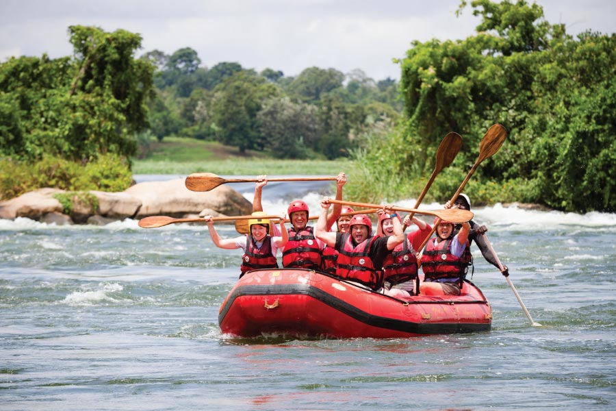 white water rafting on the Nile River