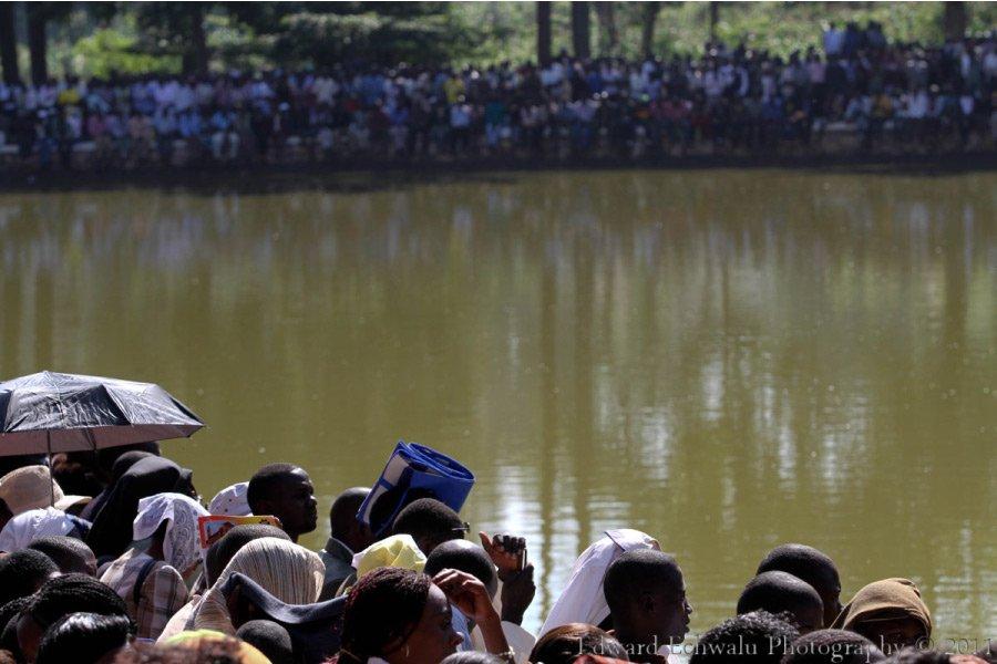 Namugongo Uganda Martyrs Shrine lake