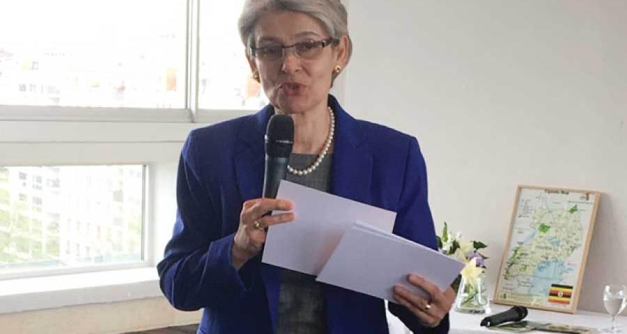 UNESCO's Director General Irina Bokova promises to retire in Uganda