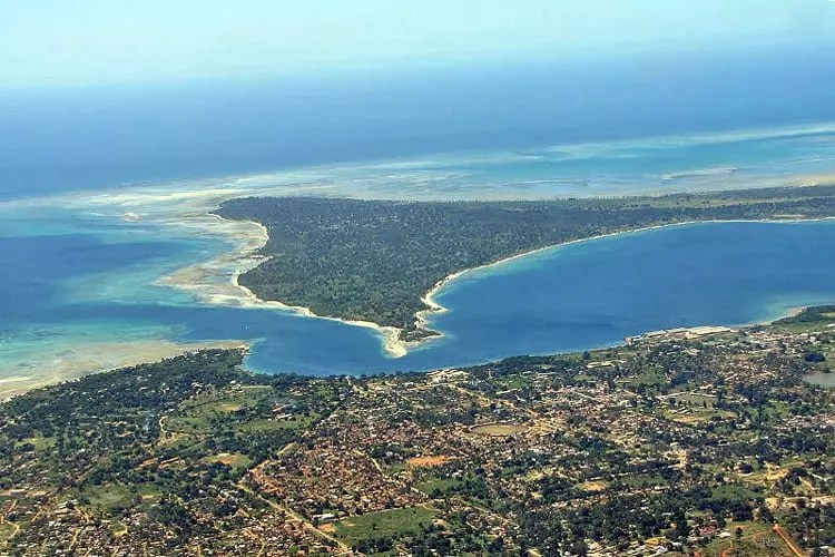 Mtwara from the air