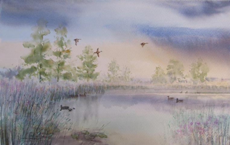 Morning on Barton Broad by Ian Piper
