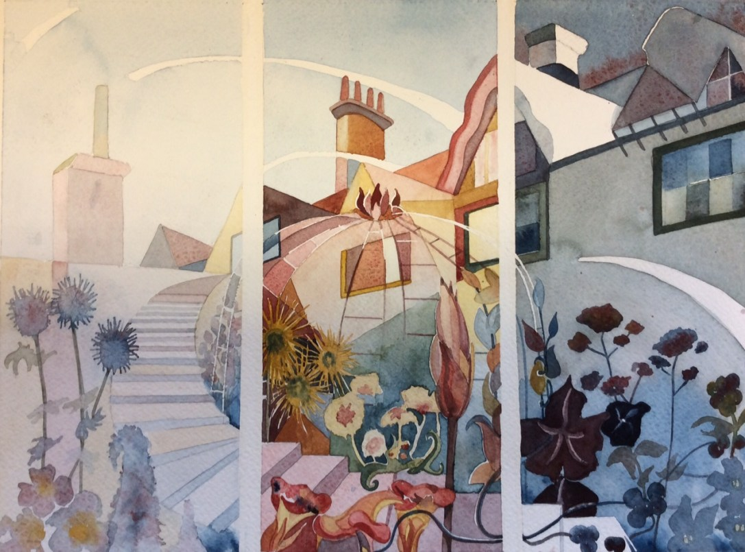 Triptych of How Hill by Mel Collins