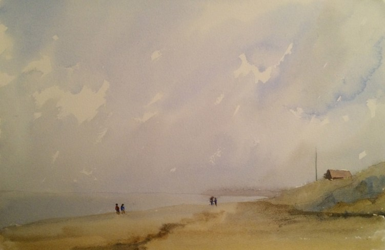 Sea - watercolour. Artist Hugh Jenkins