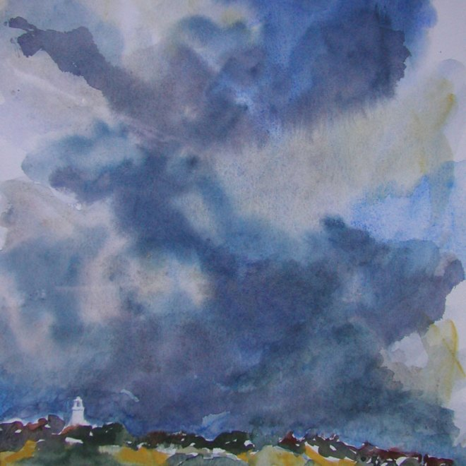 Distant Storm by Lesley Rumble