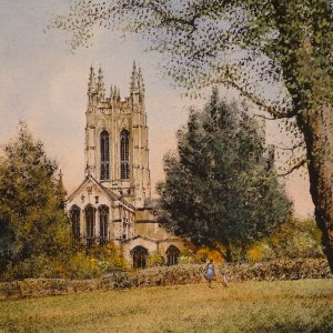 Bury Cathedral by Reg Siger