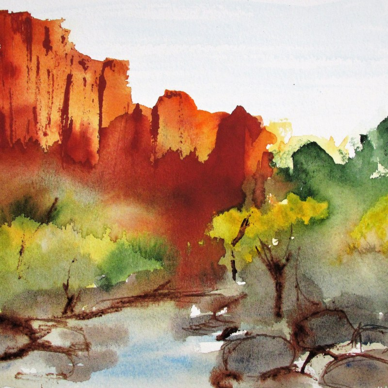 Vestiges. 33 x 46cm watercolour by Beverly Hughes