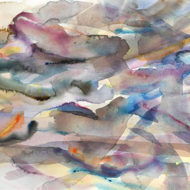 The Royal Watercolour Society President's Award: Fluid Variation 17 by Justin Hawkes