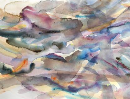The Royal Watercolour Society President's Award: Fluid Variation 17 by Justin Hawkes