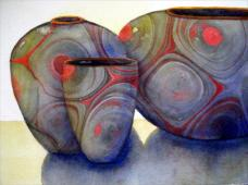 The Royal Institute of Painters in Water Colours Award: Primitive Pots by Sue Downie