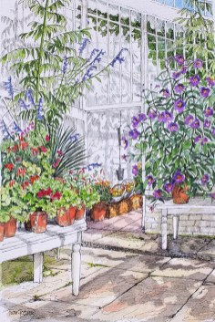 Autumn in the glasshouse by Fran Godwood