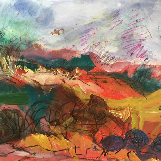 The Royal Watercolour Society President's Award: Unearthly Earth by Astrig Akseralian
