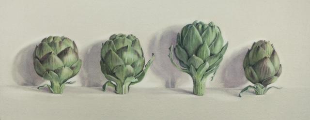 Four artichokes by Lillias August