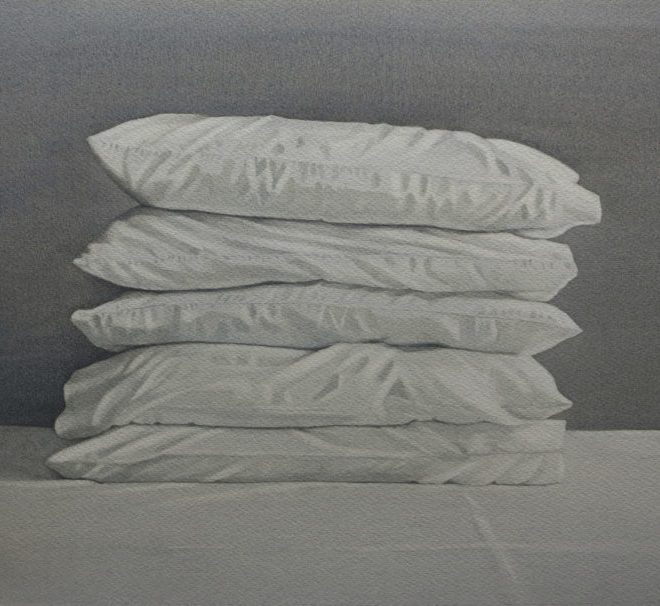 Pile of pillows by Lillias August