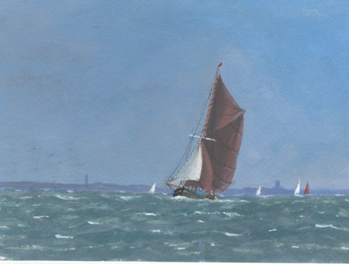 *SOLD* Breezy Day off the Coast by Anthony Osler