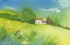 Green Landcsape II by Caroline Furlong