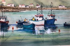 Fishing Boats at Coverack Cornwall by Surinder Beerh