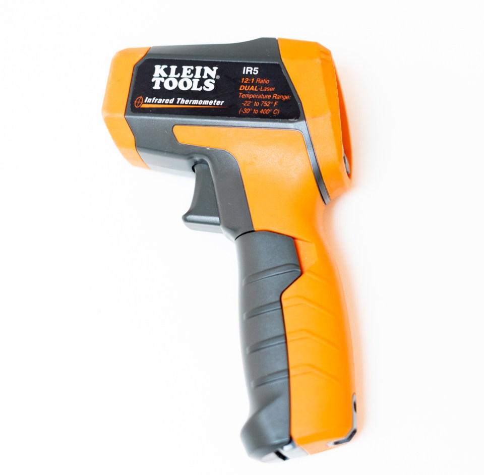 Klien brand orange infrared thermometer