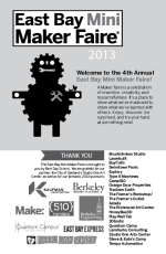2013 East Bay Mini Maker Faire Program Cover