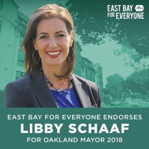 East Bay for Everyone endorses Libby Schaaf for Oakland Mayor