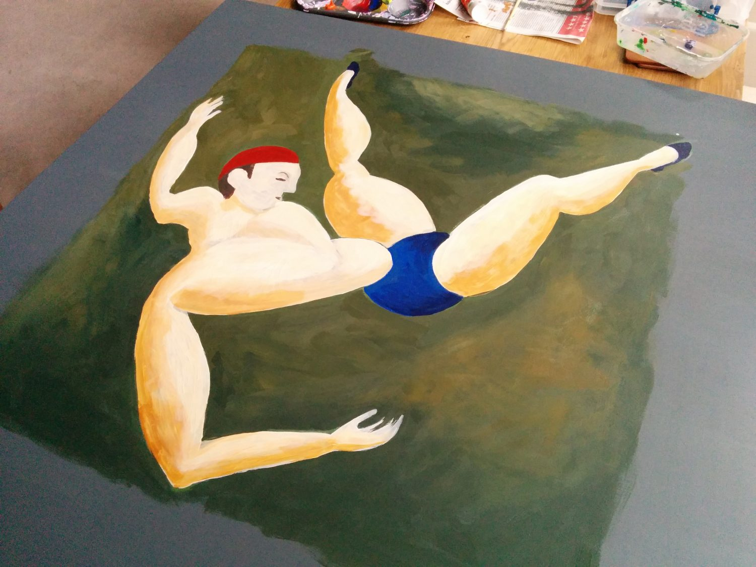 copy of Duncan Grant Acrobat painting - 2