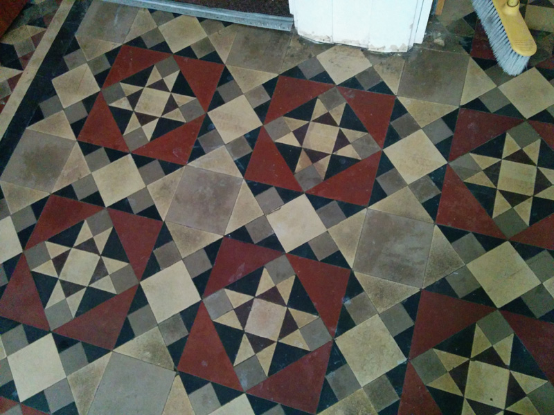 Hall floor cleaned up