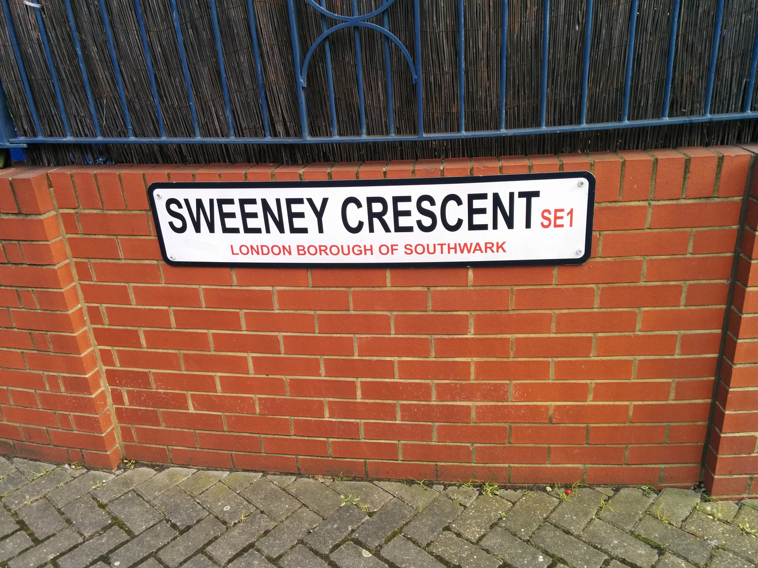 Sweeney street sign