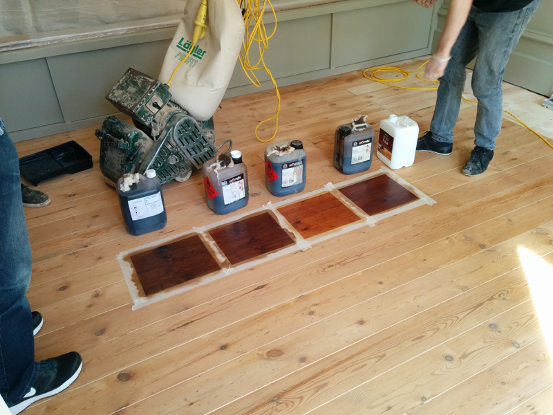 Living room floor - choosing the colour