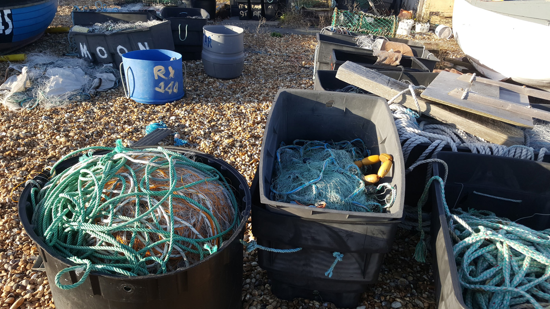 fishing tackle blue sky beach boat | An Eastbourne Diary