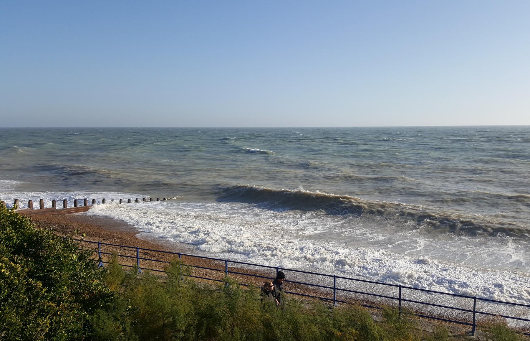 surf and beach blue sky beach boat | An Eastbourne Diary