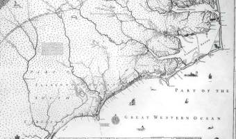 Many early North Carolina families are named on the Moseley Map (1733). Is one of them yours?