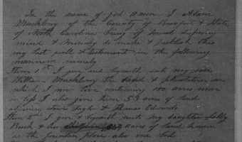 Will of Adam Muckleroy (1861) – Beaufort County
