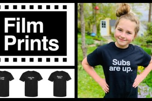 Actress Charlie Jean Boyle in FILM PRINTS tshirt