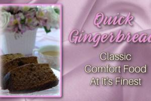 Quick Gingerbread recipe