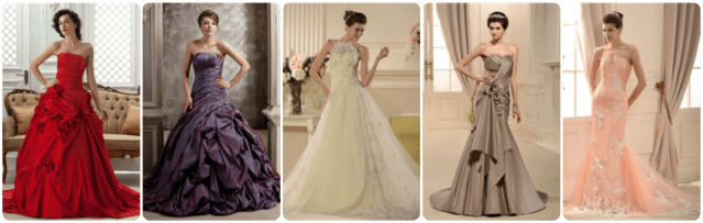 tidebuy wedding gowns, cheap, affordable, colored wedding dresses