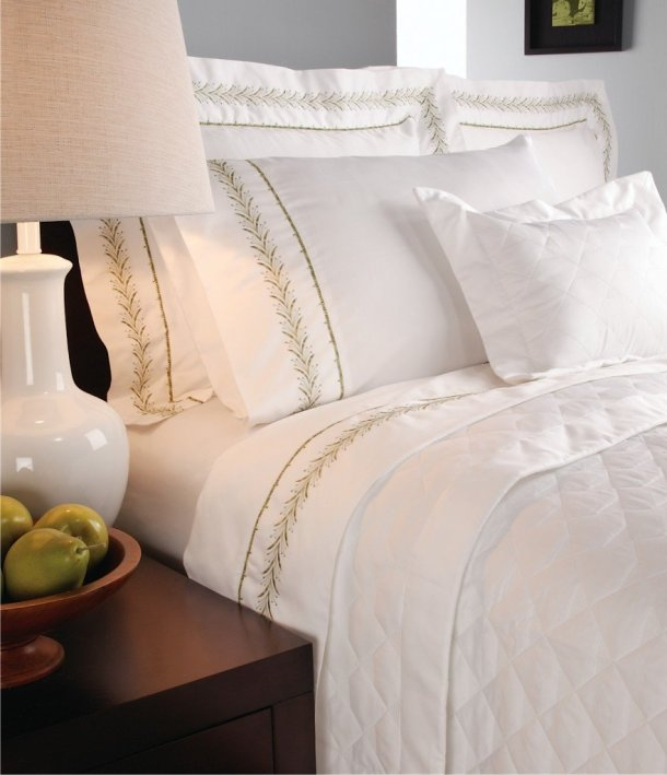SecondSkin-fern, perfect linen, white, Bedding On A Budget: GIVEAWAY