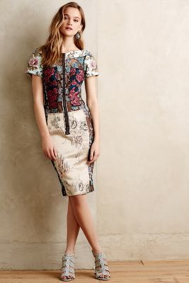 New Looks, Byron Lars Pieced Brocade Dress • $268 • Anthropologie