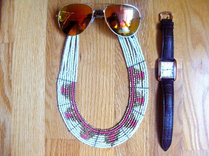 The Good And Not So Good accessories: NewChic fedora hat, Tantino Aviator sunglasses, Noulakha Topez Unisex watch