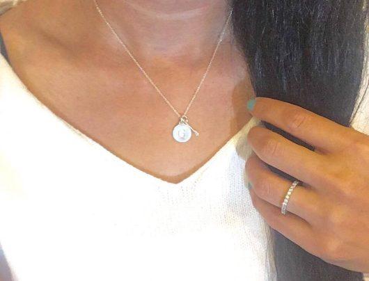 Charm Jewelry, arrow charm, initial charm, silver, Helen Ficalora