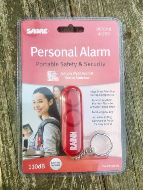 Keep yourself safe, SABRE, RAINN, Personal Alarm