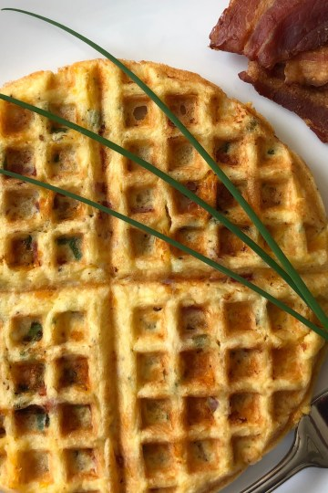 Ham n Green Onion Chaffle