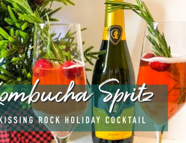 "This holiday season, I'm all about incorporating Kombucha into my holiday cocktails, starting with simple but tasty spritzer or ""spritz"" as I affectionately call it."