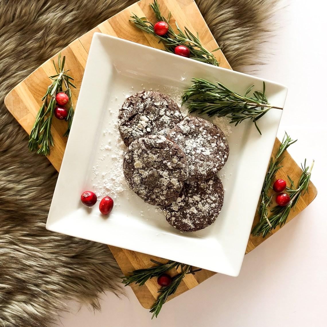 Sea Salt Caramel Chocolate Crinkle Cookies 3