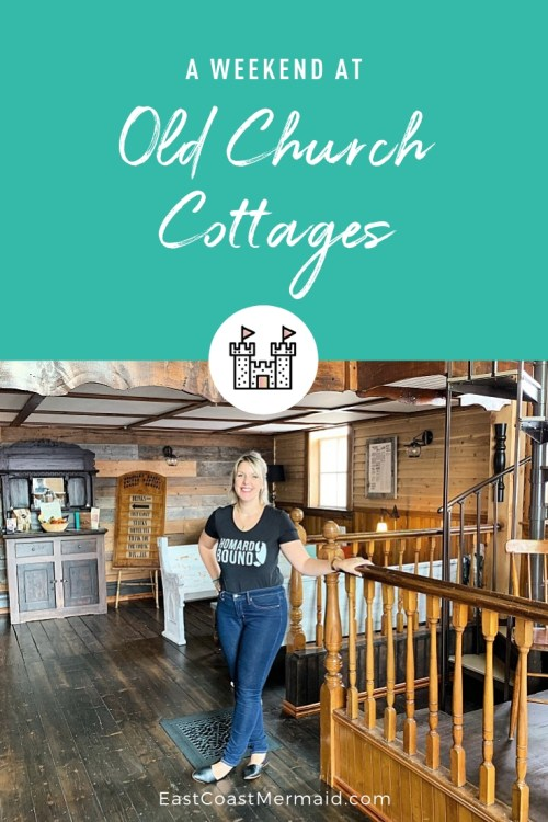 Old Church Cottages is owned and operated by Danny and Jo-Anne Lagacé and is located in Boundary Creek — only 10 minutes from downtown Moncton. It's a beautiful old church built in 1842 that was utilized as a Baptist church for over 150 years until it was de-consecrated in 1996. This was our experience.
